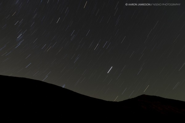 Star trails over Youtei's peak.