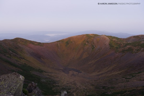 The crater just before sunrise