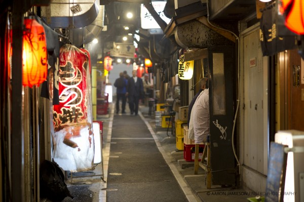 "An amazing collection of Yakitori bars in Shomben Yokocho (""Piss Alley"") - Shinjuku."
